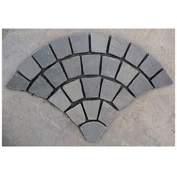 fan-shaped stone mats_black slate