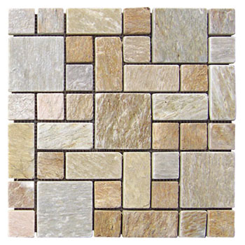 Golden Slate Mosaic Stone Paver JR-MC-003