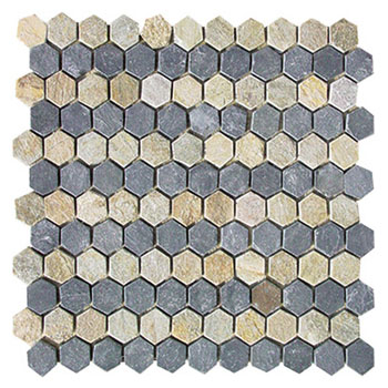 Golden Slate Stone Mosaic JR-MC-006