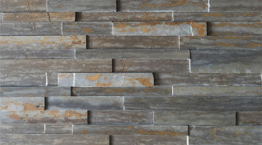 3D-stone panel natural grey limestone JRED-017